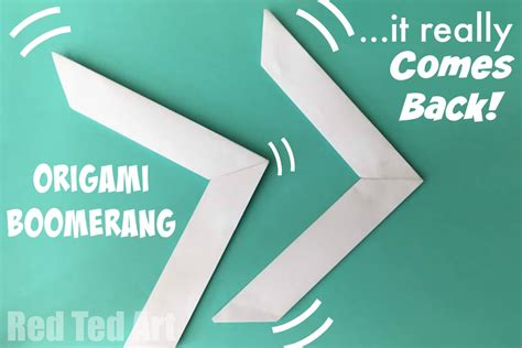 origami boomerang that comes back ted s
