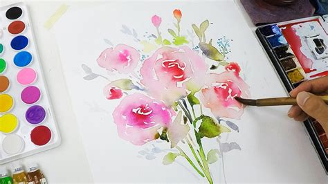 watercolor diy diy watercolor invitation painting flowers