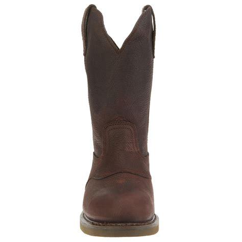 mens ranch boots 11 quot s brown pull on durango farm ranch wellington
