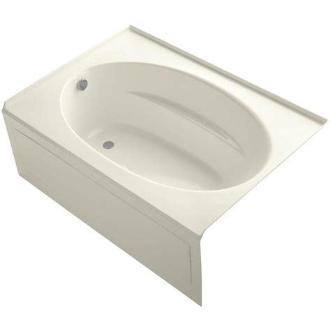 apron bathtub kohler windward 5 ft acrylic left hand drain rectangular