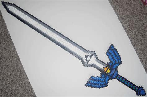 the bead master perler master sword by iheartkitties on deviantart