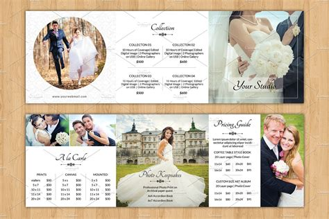 wedding brochure template square trifold pricing brochure v446 brochure templates