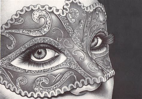 masquerade ballpoint pen drawing by angelfaces1986 on