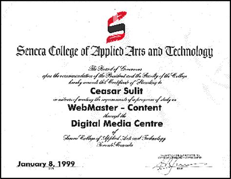 Photos Of Resume Sample by Seneca Webmaster Content Certificate