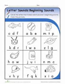 letter sounds beginning sounds worksheet education com