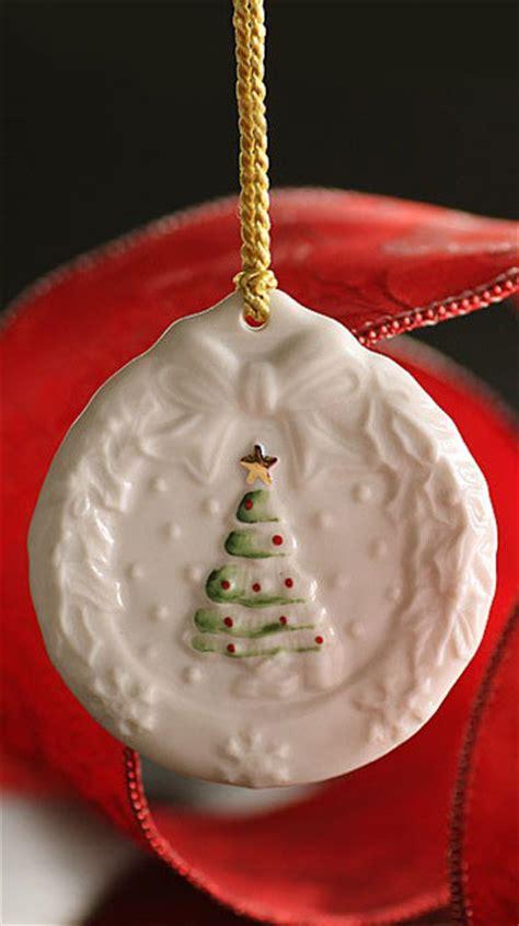 belleek holly wreath ornament