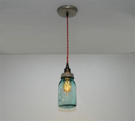 Jar Pendant Light Custom Antique Aqua Jar Hanging Pendant Light By Milton Douglas L Co Custommade