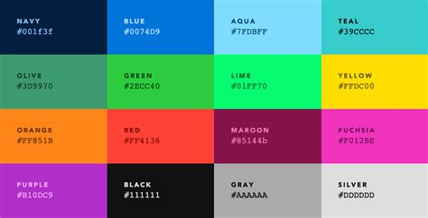 colors default web palette replacement progville