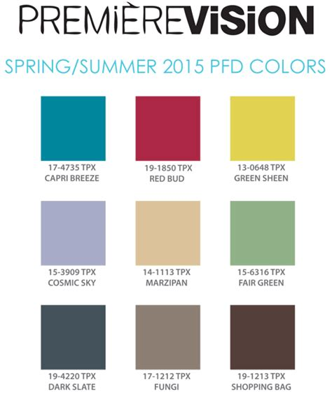 pantone color trends color trend report pfd colors for spring summer 2015