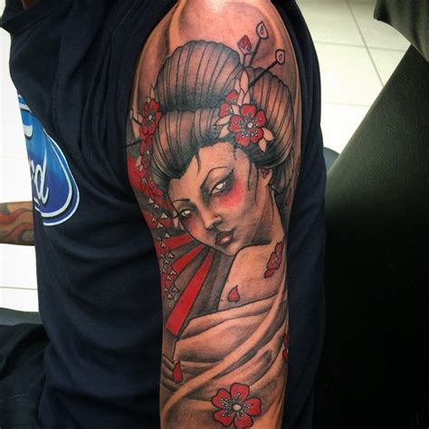 tattoo hình geisha tatuaje de geisha misteriosa en el brazo tattooimages biz