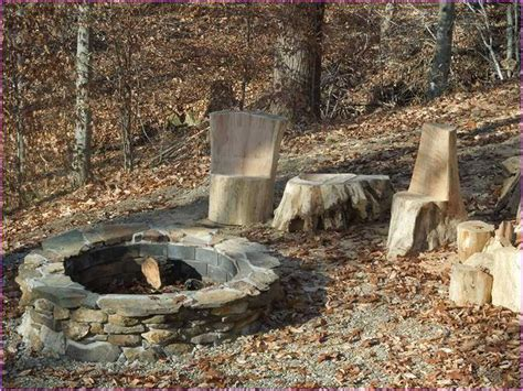 Rustic Fire Pit Designs Home Design Ideas