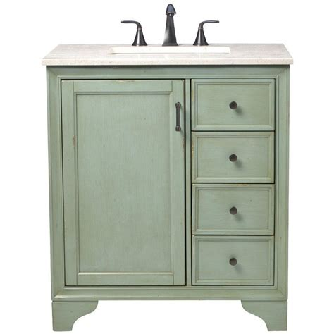 green bathroom vanity home decorators collection hazelton 31 in vanity in