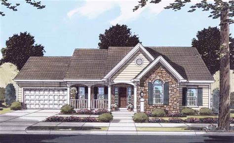 Small Bungalow 5412 by Eplans Country House Plan One Story Convenience