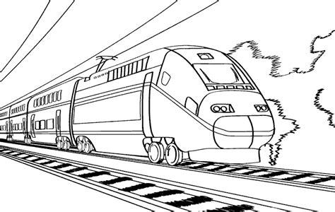 coloring page high speed train раскраска поезд детские раскраски распечатать скачать