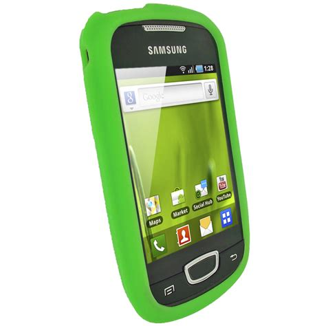 Casing Hp Galaxy Mini green silicone for samsung galaxy mini s5570 android