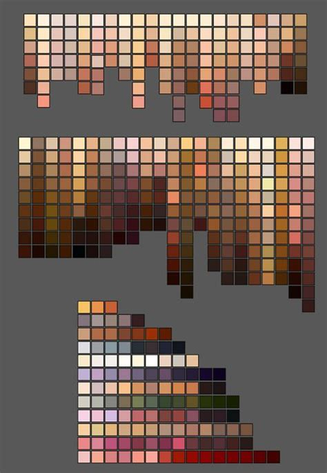 skin colour palettes hows