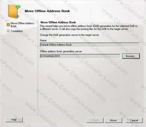 if necessary move the oab generation to another mailbox server exchange server exchange server 2007 den exchange server