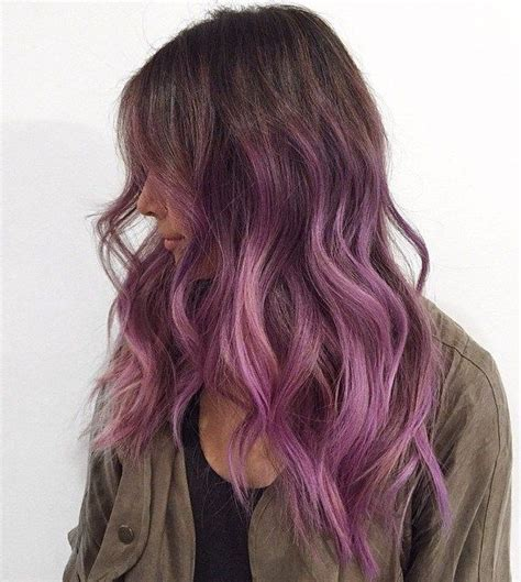 best purple shoo for highlights best 25 brown hair ombre purple ideas on pinterest red