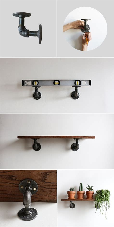 diy industrial wall shelves alana jones mann