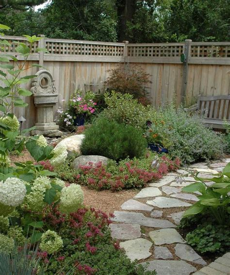 crazy backyard ideas crazy paving and mix of ground plants to soften the edges