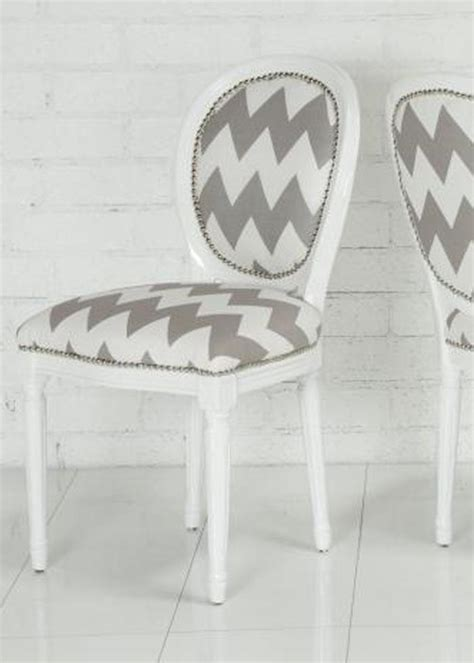Chevron Dining Chair Www Roomservicestore Chevron Print Louis Dining Chair