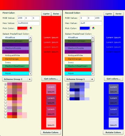 aries colors aries color scheme wizard 2 5 1