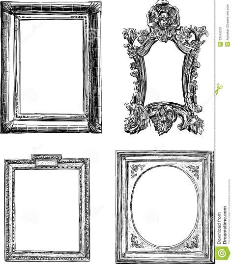 frame design drawing antique decorative frames stock image image of antique