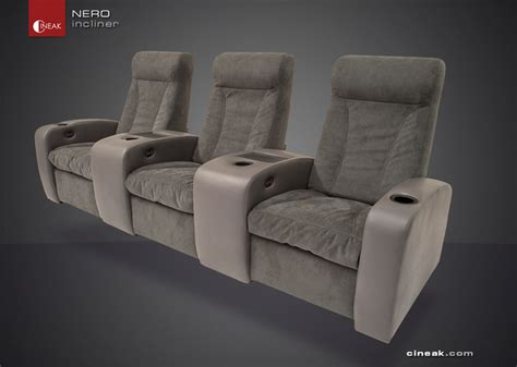 media room furniture seating media room seating by cineak gt gt nero recliner chairs