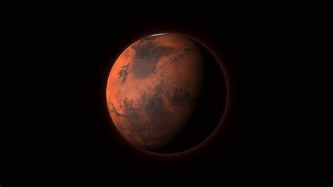 mars background planet mars in outer space spinning around its axis on a