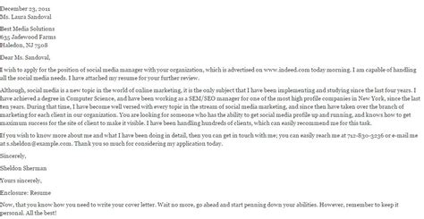 Social Media Editor Cover Letter by Social Media Manager Cover Letter