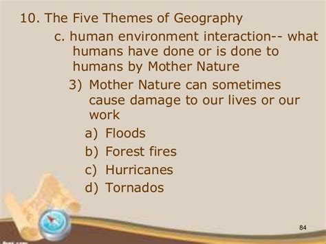 themes of geography human environment interaction 1 c intro to geography 2013 2014