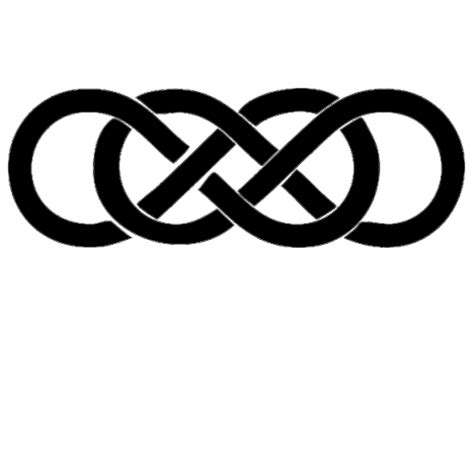 infinity tattoo png double infinity 4 quot vinyl decal sticker from decalrate