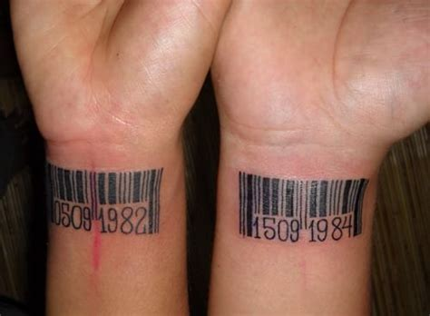 barcode tattoo with date matching barcode tattoo with birth date creativefan