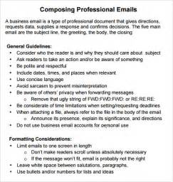 Professional Email Templates For Business Professional Email 7 Samples Examples Format