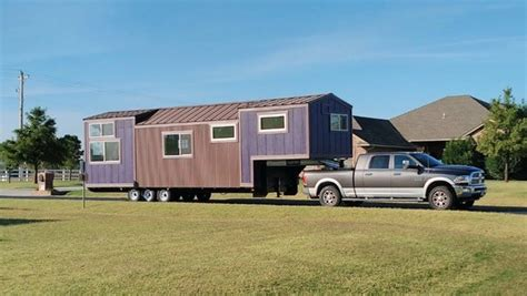 not so small house purple monster stretches the definition of a quot tiny house quot