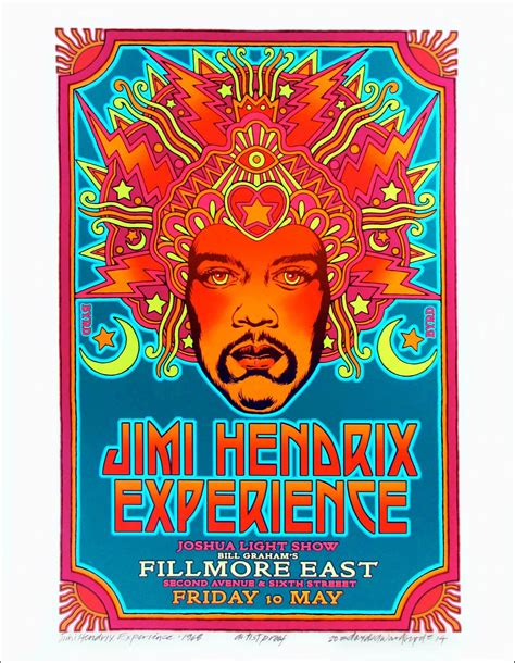fillmore full version jimi hendrix 1968 fillmore poster alt design new giclee
