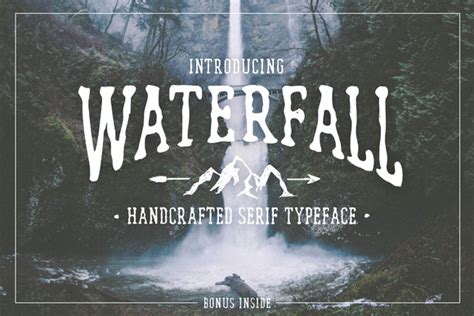 Handcrafted Font - waterfall handcrafted font bonus befonts