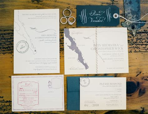 destination wedding invitations intimate diy baja wedding erin chris green wedding