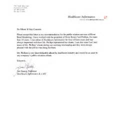recommendation letter for healthcare professionals cover