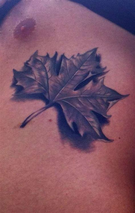 tattoo leaves chest leaf tattoo images designs