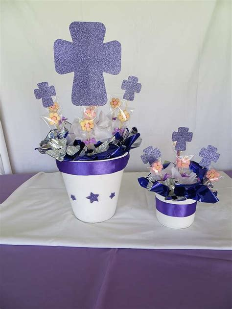 centros de mesa para primera comuni 243 n ideas para decorar en casa macetas con cruces centros