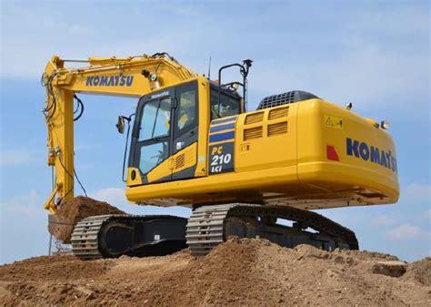 Grading Machine new pc210lci 10 excavator from komatsu dredging today