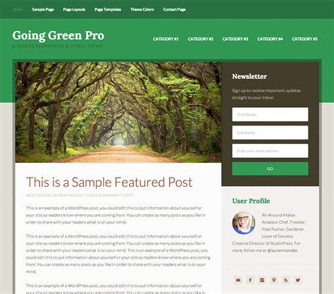 themes wordpress green download going green pro wordpress theme free