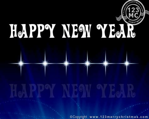 happy  year  flash blink  blue black background  ecard