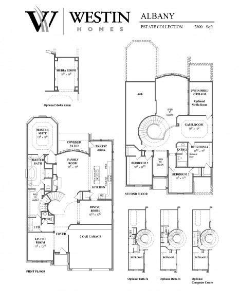 westin homes floor plans floorplan 171 the albany 171 westin homes my dream house