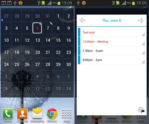 Calendar Widgets For Android Calendar Android Calendar Widget Aw Center