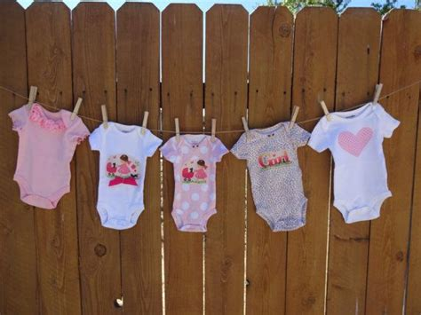 bathroom clothesline 5 baby girl onesies for baby shower clothesline baby