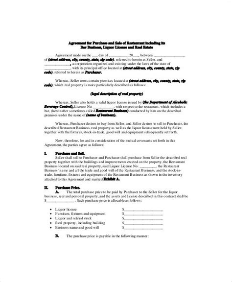 business sale contract sle business sale contract 6 exles in word pdf