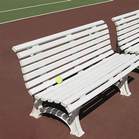 tennis court bench tennis court benches photograph by skip nall