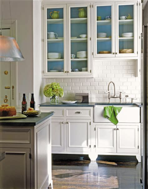 Beautiful White Kitchen Cabinets Blue Kitchens Homeworlds